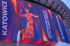 Fahnen der 2017 Männer ` s europäischen Volleyball-Meisterschaft Stockbild
