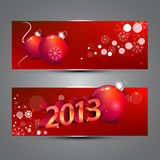 Fahnen des neuen Jahres Stockfotografie