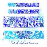 Fahnen eingestellt von den Winterbeschaffenheiten Lizenzfreies Stockbild