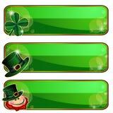 Fahnen für Heiligen Patricks Tag Lizenzfreie Stockbilder