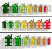 Fahnen-Gebäudeenergieleistung Stockfoto