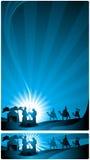 Fahnen-Geburt Christiszene Lizenzfreie Stockbilder