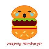 Fahnen-Gefühl-Hamburger Auch im corel abgehobenen Betrag stock abbildung