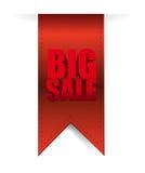Fahnen-Geschäftszeichen des großen Verkaufs hängendes Stockfotos