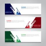 Fahnen-Hintergrund-modernes Vektor-Design Stockbilder