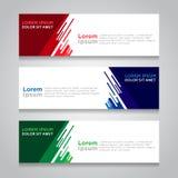 Fahnen-Hintergrund-modernes Vektor-Design Lizenzfreies Stockbild