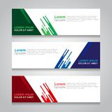 Fahnen-Hintergrund-modernes Vektor-Design Lizenzfreie Stockfotografie