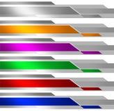 Fahnen-metallisches Mehrfarben Stockfotografie