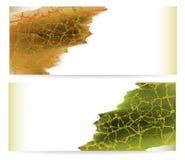 Fahnen mit abstraktem gridded Hintergrund in den Herbstfarben Lizenzfreie Stockfotografie