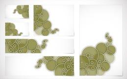 Fahnen mit abstraktem Hintergrund Stockbild