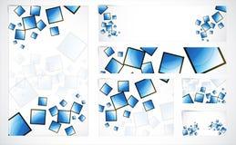Fahnen mit abstraktem Hintergrund Lizenzfreie Stockfotografie