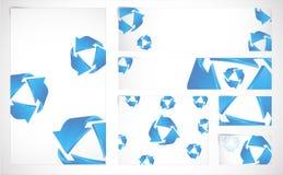 Fahnen mit abstraktem Hintergrund vektor abbildung
