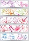 Fahnen mit Blume Stockfotos