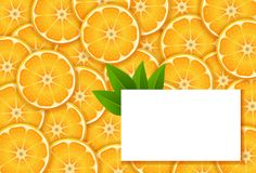 Fahnen mit Orange Stockfotografie