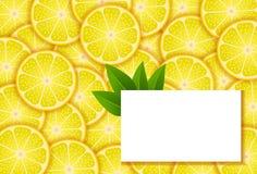 Fahnen mit Zitrone Lizenzfreie Stockfotografie