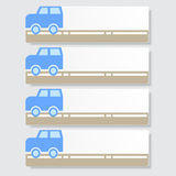 Fahnen Schablone oder Websiteplan Vektor Abbildung Stockfotografie