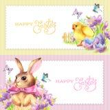 Fahnen stellten fröhliche Ostern ein Stockfotos