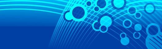 Fahnen-Titel-Raum-Blasen-Cyanblau Stockbild
