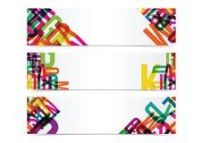 Fahnen-Titelhintergrund der Typografie bunter Stockbild