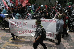 FAHNEN-UND PLAKAT-PROTEST Lizenzfreie Stockfotografie