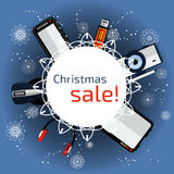 Fahnen-Weihnachtsverkauf Stockfoto