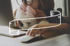 Fahnen-Werbemitteilung annoncieren Förderungs-Konzept stockbild