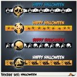 Fahnen, zum sich für den Feiertag Halloween vorzubereiten Lizenzfreie Stockfotos