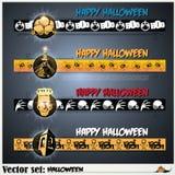 Fahnen, zum sich für den Feiertag Halloween vorzubereiten Lizenzfreie Stockfotografie