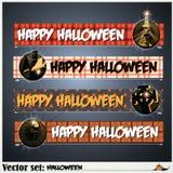 Fahnen, zum sich für den Feiertag Halloween vorzubereiten Lizenzfreies Stockbild