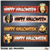 Fahnen, zum sich für den Feiertag Halloween vorzubereiten Stockfotografie
