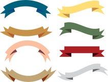 Fahnenband-Vektorsammlung der Weinlese Retro- Lizenzfreies Stockbild