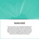 Fahnenhintergrunddesign Farbige moderne abstrakte Schablone lizenzfreie abbildung