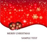 Fahnenillustration Weihnachtskarte Lizenzfreies Stockbild