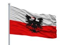 Fahnenmast Capelle Aan Den Ijssel City Flag On, die Niederlande, lokalisiert auf weißem Hintergrund vektor abbildung