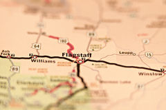 Fahnenmastarizona-Bereichskarte stockbild