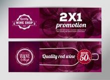 Fahnenschablone für Weinereignis Vektor Abbildung