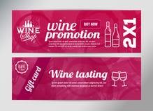 Fahnenschablone für Weinereignis Stock Abbildung