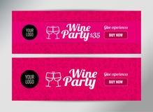 Fahnenschablone für Weinereignis Lizenzfreie Abbildung