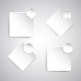 Fahnenschablone mit Weißbuch Lizenzfreies Stockfoto