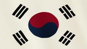 Fahnenschwenkende Animation Republik Korea Gesamter Bildschirm Symbol des Landes lizenzfreie abbildung