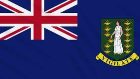 Fahnenschwenkender Stoff der Britischen Jungferninseln, Schleife lizenzfreie abbildung