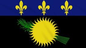 Fahnenschwenkender Stoff Guadeloupe-Variante, Schleife lizenzfreie abbildung