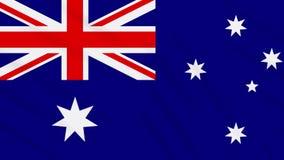 Fahnenschwenkender Stoffhintergrund Australiens, Schleife stock abbildung