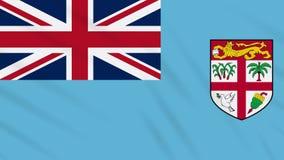 Fahnenschwenkender Stoffhintergrund Fidschis, Schleife stock footage