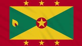 Fahnenschwenkender Stoffhintergrund Grenadas, Schleife lizenzfreie abbildung