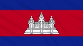 Fahnenschwenkender Stoffhintergrund Kambodschas, Schleife stock abbildung