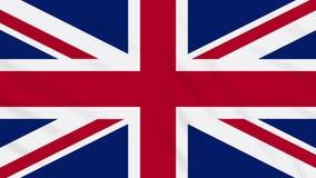 Fahnenschwenkender Stoffhintergrund Vereinigten Königreichs, Schleife vektor abbildung