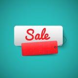 Fahnentag des Verkaufs 3D Verkaufs-Aufkleberkonzept stock abbildung