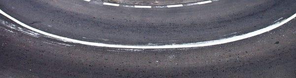 Fahrbahnmarkierungen Stockfotos