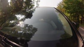 Fahren auf Waldweg stock footage